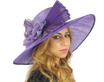Large Purple Ascot Kentucky Derby Proms