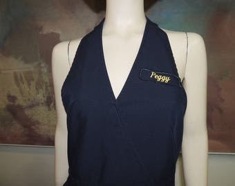 "United Airlines Flight Attendant Apron ""Peggy"" Size Medium"