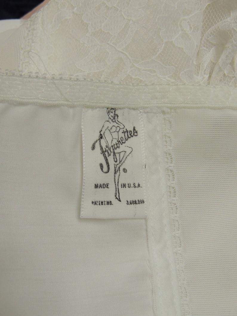Old store stock never worn 36E Figurettes 1960s Cotton Long Line Bra