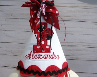 Ladybug Hat Red Party First Birthday Smash Cake 2nd Lady Bug