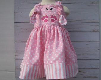 pink easter knot dress  spring birthday dress, smash cake, easter dress, easter bunny pink dress,  easter sunday dress,  easter bunny,