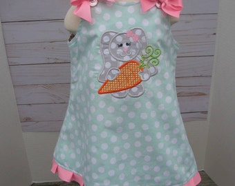 Girls Easter dress mint green easter dress, 1st easter, 2nd easter, easter dress, spring dress, easter bunny, easter sunday dress