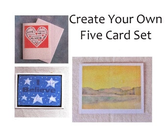 Create Your Own Five Card Set