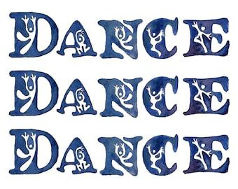 Dance Dance Dance Celebrations Card - 4 Card Pack