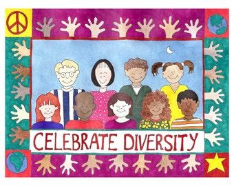 Celebrate Diversity Card - 4 Card Set