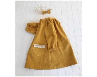 57b0405bf Baby romper Clay romper Rust color linen romper Baby linen
