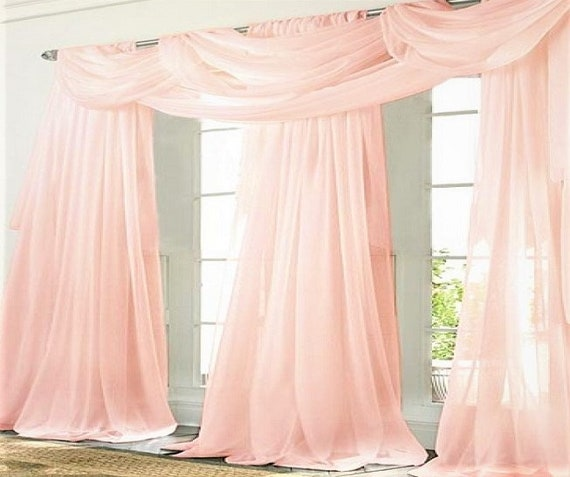 Sheer Voile Curtain Panel - Choose Your Color Fabric - Custom Made - Your Length