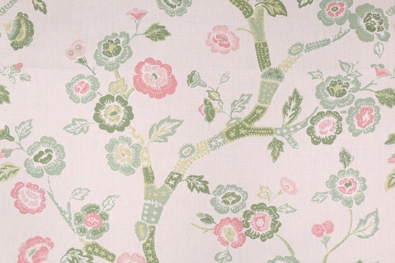 Single Curtain Panel with Rod Pocket Top, Unlined, Choice of 2 Colors, Floral Vine
