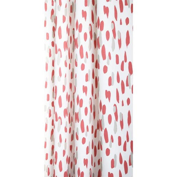 Madcap Cottage Curtain, Mill Reef Rhubarb, All Cotton, Rod Pocket, Lined, Multiple Lengths,