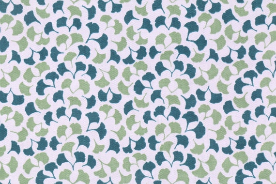 Moroccan Fabric, Small Print, Teal Green White, Curtain Upholstery Material, By The Yard