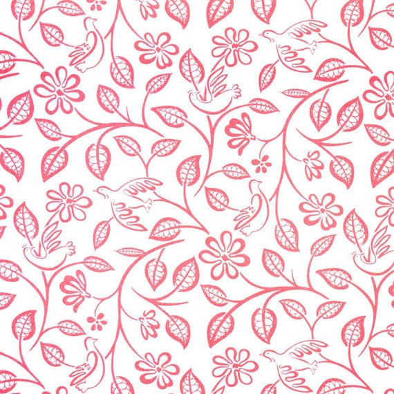 Shabby Chic Curtain Panel, Toile, Love Birds, Cotton, Rod Pocket Top, Lined or Unlined, Any Length, 4 Color Options