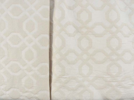 Jacquard Fabric, Solid Texture in Natural, Reversable, Ivory Tone on Tone, By The Yard, Choose From 4 Designs, Soft, Durable