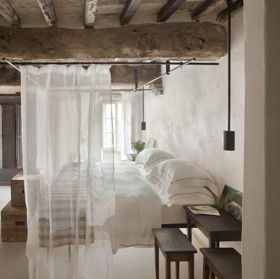 Custom Sheer Linen Curtain, 4 Color Choices, Custom Length, Ethereal Lightweight, Natural Soft