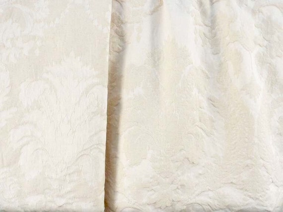 Damask Fabric in Natural, Reversable, Tone on Tone, By The Yard,