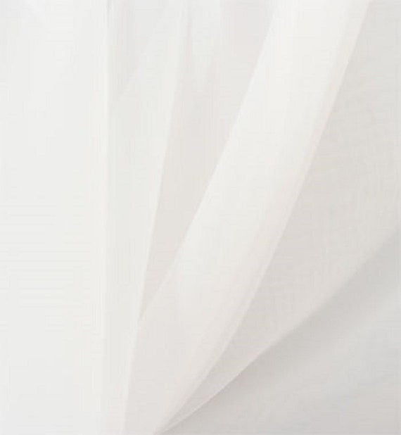 White Voile Chiffon Fabric, Sheer, 118 Inches Wide, By The Yard, For Curtains Swags Scarves Wedding and Event Decor, Overlays Costume Craft