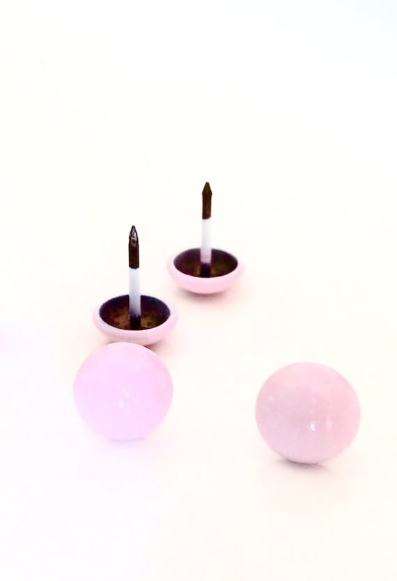 Pink Upholstery Nails Tacks with Round Dome Head - Set of 250
