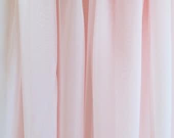 Chiffon Voile Fabric, Sheer Light Pink, Blush Wedding Decor, Curtain Swag Scarve Overlay Drape