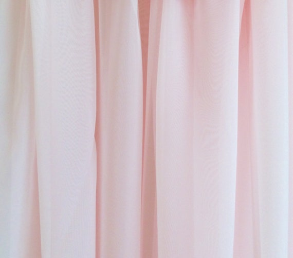 Chiffon Voile Fabric, Sheer, Pale Pink, Extra Wide, By The Yard, Curtain Swag Scarve Overlay Drape