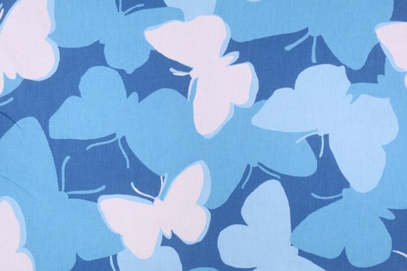 Valance with  Butterflies, Cotton, Madcap Cottage, Choose from  Blue or Yellow, Window Topper,