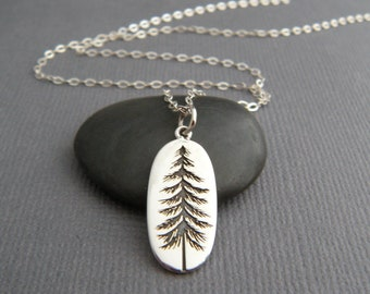 Etched pendant etsy sterling silver pine tree necklace small etched pendant oxidized small earth charm nature forest simple natural evergreen jewelry gift 34 aloadofball Images