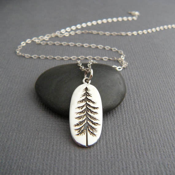 925 Sterling Silver Pine Tree Charm Made in USA