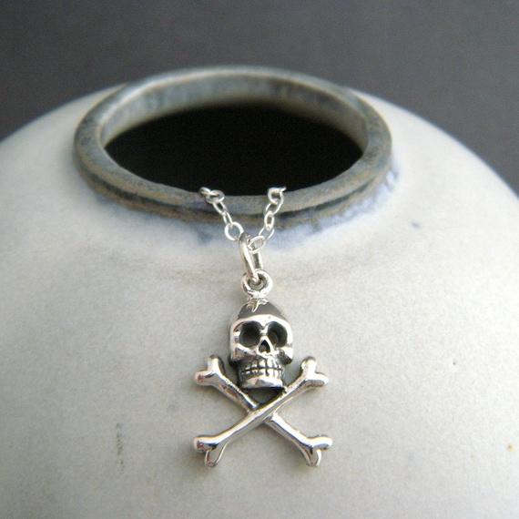 Sterling Silver Skull And Cross Bones Charm