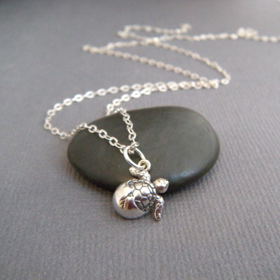 Sterling Silver Turtle Clip-On Lobster Lock Charm Pendant