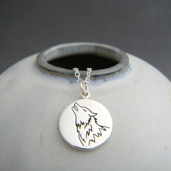 Wisdom Totem Recycled 925 Silver. Silver Spirit Animal Pendant Sunday/'s Child Silver Wolf Necklace Spirit Animal Wolf Totem Necklace
