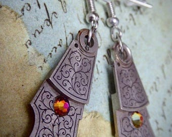 Steampunk - Pocket watch parts - Archaic - Steampunk Earrings - Repurposed art