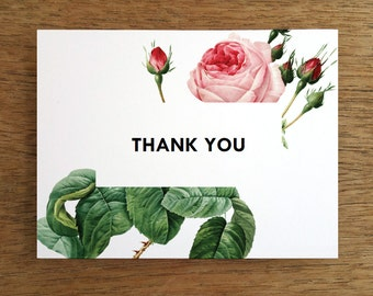 Wedding Thank You Card Template Printable Thank You Note Etsy