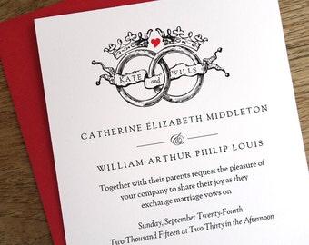 Royal wedding invite Etsy