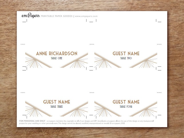 Printable Place Cards Place Card Template Pdf Place Cards