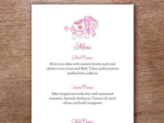 Buddhist-hindu wedding menu cards,indian menu card designs-fusion.
