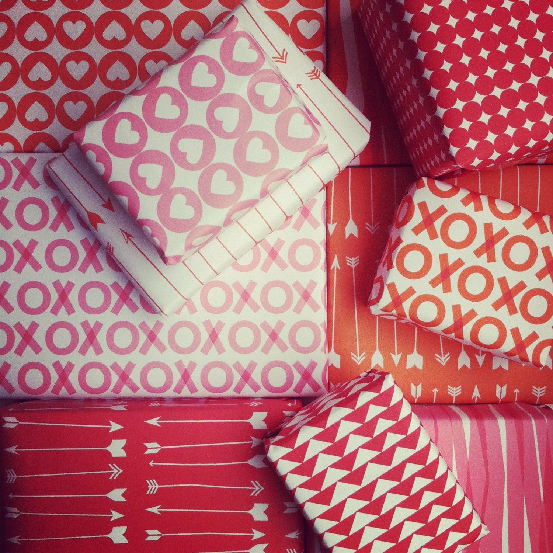 Printable Paper Valentine Digital Wrapping Paper Digital   Etsy