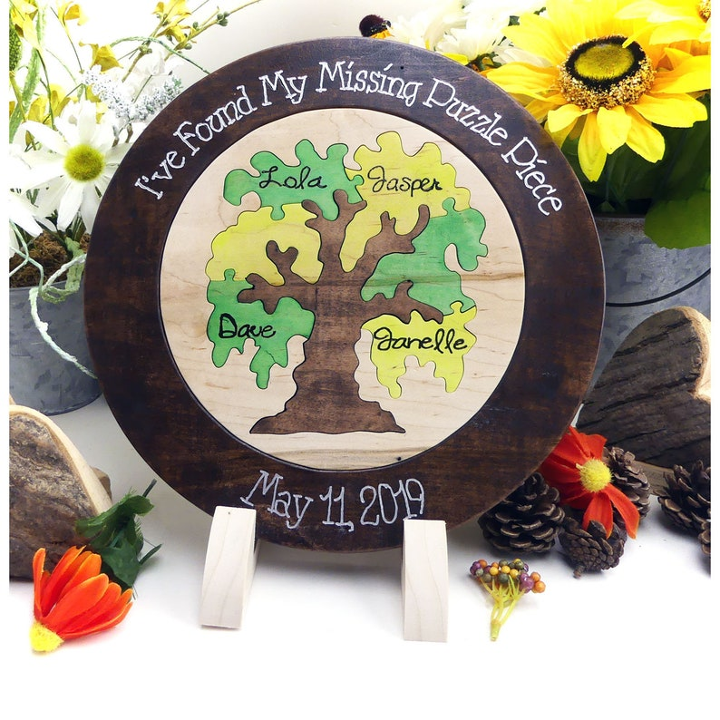 Weeping Willlow Family Tree Custom Designed Unity Puzzle Unity Ceremony Alternative Wedding Puzzle Blended Family Wedding Gift For Couple