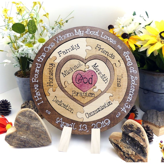Unique Unity Ceremony Ideas Wedding Unity Puzzle Blended Family Wedding Gift For The Couple Unity Ceremony Alternative Family Heirloom Gift