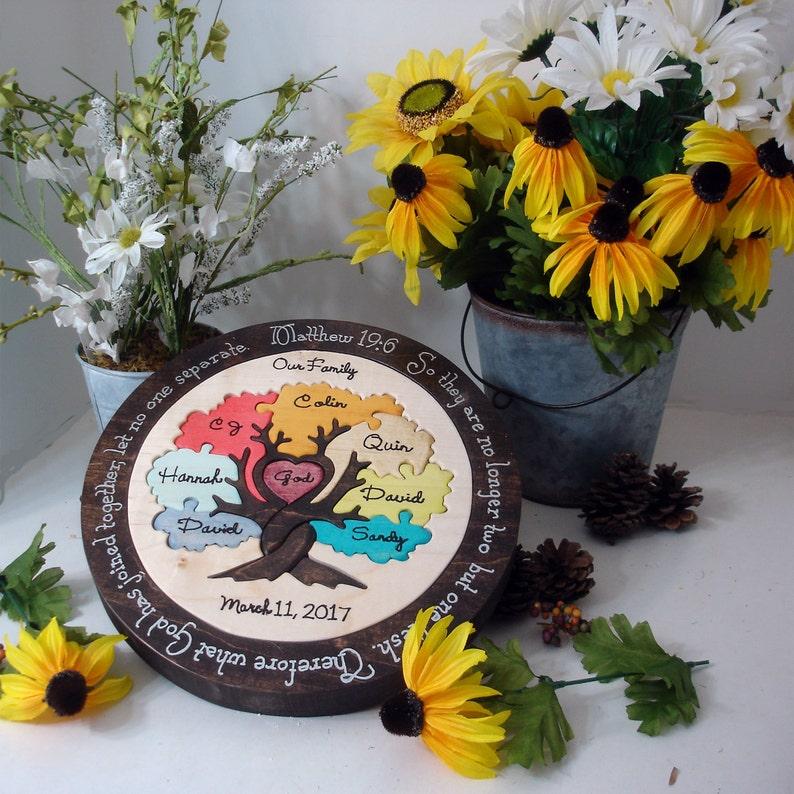 Family Tree Custom Designed Unity Puzzle ® Wedding Puzzle Personalized  Christmas Gift OOAK Blended Family Wedding Gift Wooden Tray Puzzle