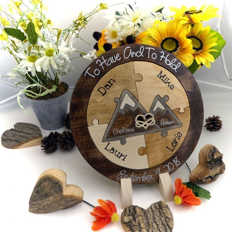 Family Custom Designed Unity Puzzle\u00ae Infinity Heart Wedding Unity Ceremony Alternative Unity Ideas Blended Family Wedding Gift For Couple