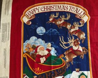 Santa Door Panel, Santa Wallhanging Panel, Santa Crafting Panel, Night Before Christmas Sewing Panel,32X42 Inches-Last Piece--DurhamDeals
