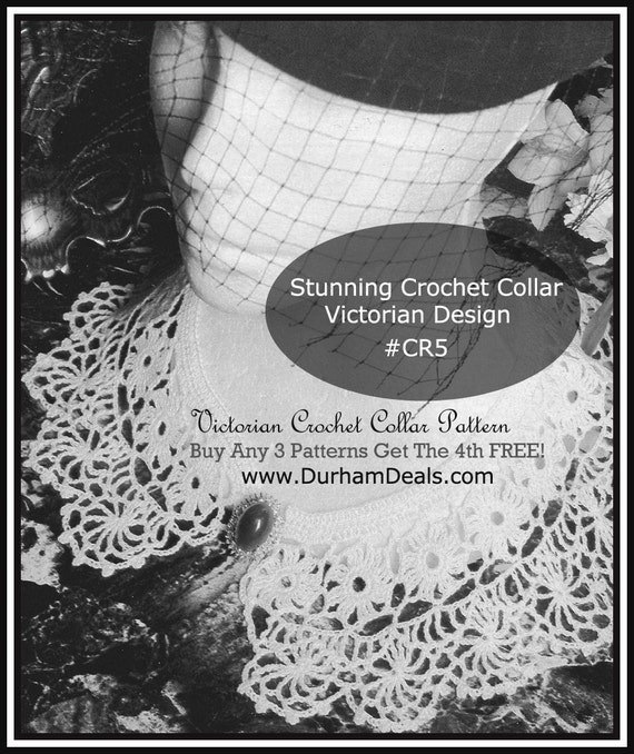 Victorian Collar Crochet Ladies Collar Crochet Pattern Cr5 Etsy