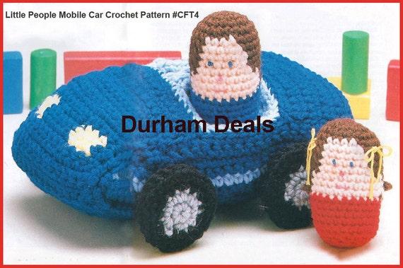 Car Crochet Pattern Little People Crochet Pattern With Car Etsy