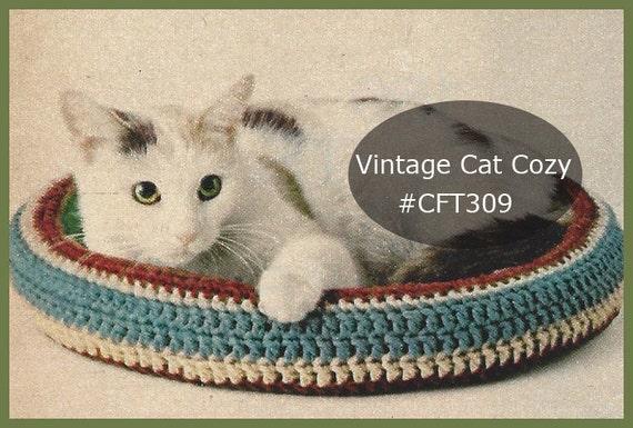 Cat Crochet Bednestcozy Crochet Pattern Free Zen Bed Etsy