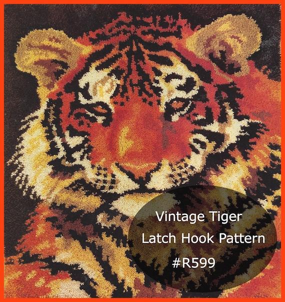 Tiger Latch Hook Pattern Tiger Rug Wall Hanging Latch Hook