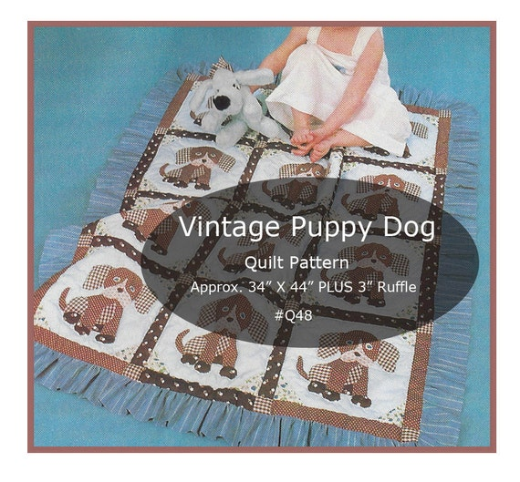 Puppy Dogs Quilt Pattern Puppy Dog Sewing Dog Quilt Etsy