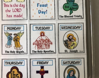 Faith Rubber Stamps, Religious Rubber Stamps Kit, Dedication Of Days Stamp Kit, Vintage Rubber Stamps Dates 1997--NIP--DurhamDeals