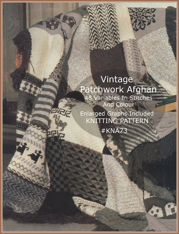 Afghan Knitting Pattern 48 Different Variables STUNNING | Etsy