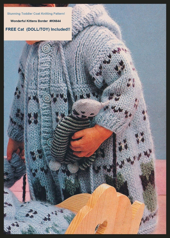 aa1dca0a7 Baby Child Coat Knitting Pattern Free Cat Toy Knitting