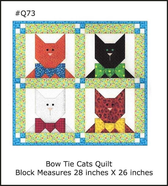 Quilt Nähen Muster Katze Block Applikation Katze Schleife | Etsy