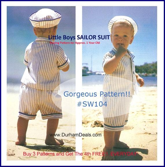 Matrosenanzug Schnittmuster kleine Junge Matrosenanzug Sailor | Etsy