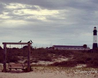 Photograph: Lighthouse at Dusk Beach Scene Nature Photo 4x6 print